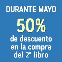 Durante mayo estaremos realizando un descuento del 50% en la compra del segundo libro. Solo tiene que visitar nuestra tienda online e ingresar el código del cupón 042016 al momento de comprar.